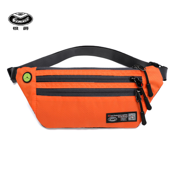 yinjue waist bag lady's purse ultra thin invisible breathable waterproof multi-layer certificate passport fitness running bags