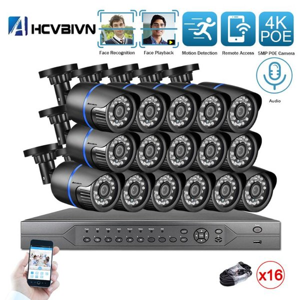 None 16ch nvr 16pcs cam