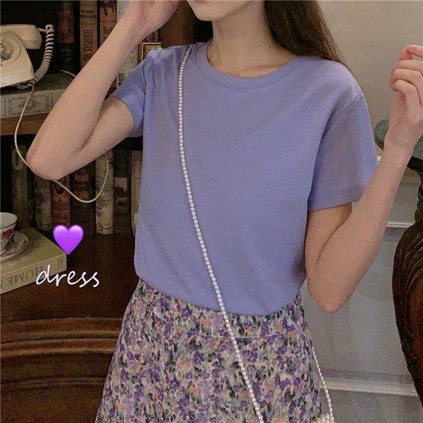 Viola Top + Gonna floreale viola