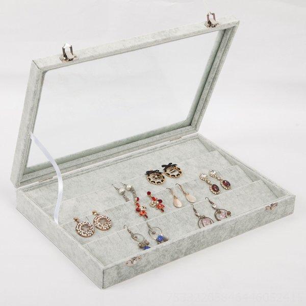 Box-35x24cm à quatre niveaux bijoux boucles d'oreilles
