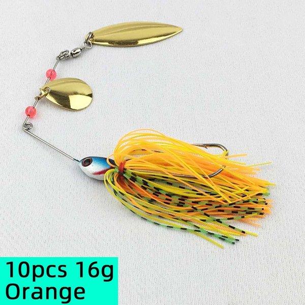 10pcs 16g Orange