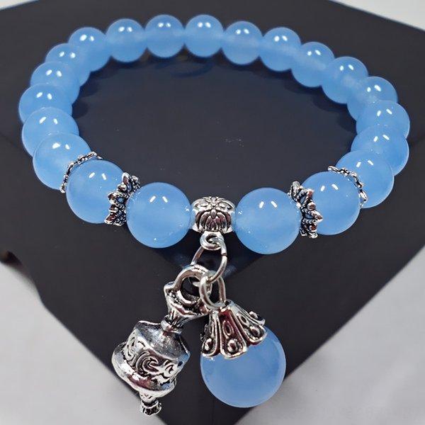 S484 Bleu clair calcédoine Diamant de Bell