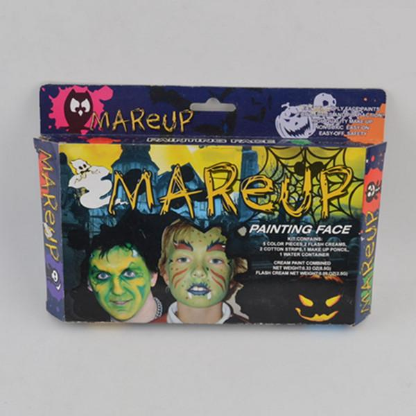 best selling Safety material high quality easy on- off non- toxic Halloween baby makeup game for kids age 5+