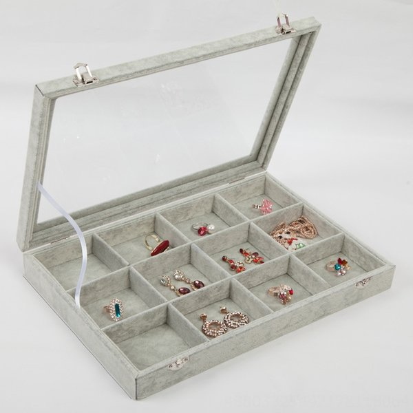 12-grille Boîte à bijoux-35x24cm