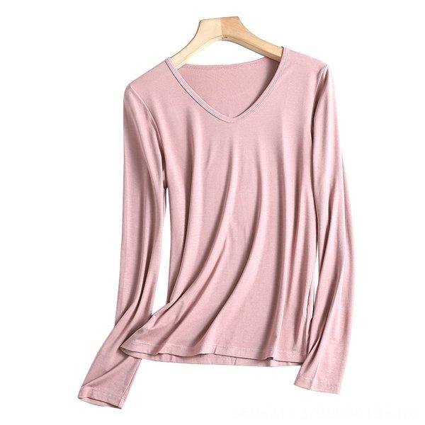 V-pescoço Lotus Raiz roxo rosa