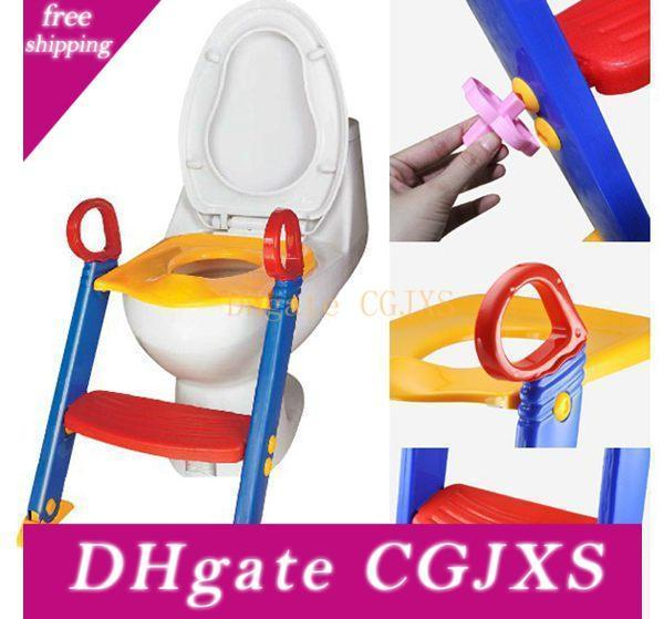 top popular Baby Toddler Potty Training Toilet Ladder Seat Steps Safety Child Loo Chair  Children Toilet Ladder Chair 2020