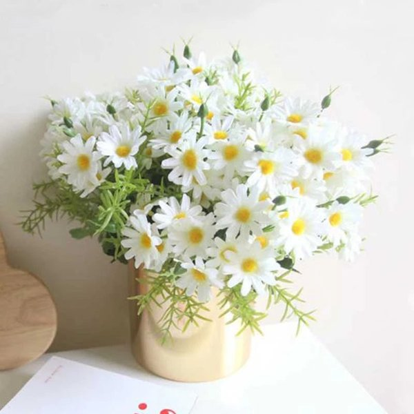 1pcs Artificial Flowers Silk Chrysanthemum 6 branches artificial daisy Fake flowers decoration for home garden office decoration