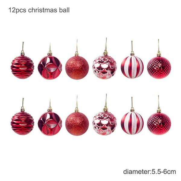 6cm palle rosse