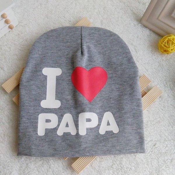 i Love Dad gris