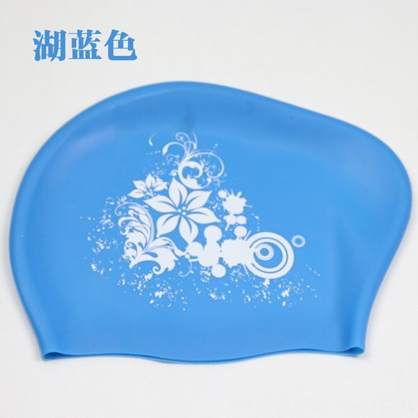 Lake Blue (silicone Flower Swimming Cap)