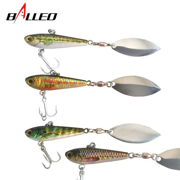 Sports Entertainment Fishing Pêche Firm Fish Fish Metal VIB 10CM20G Diriger Jig 3D Yeux Spoon Spinner Spinner Bass Leurres de pêche