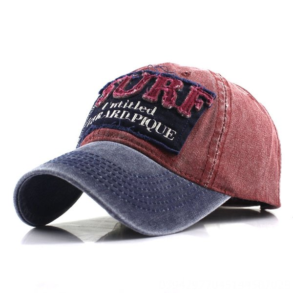 Blu Navy Brim + Red-6 1/2