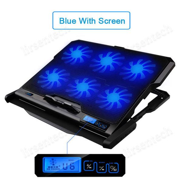 Blau mit Bildschirm