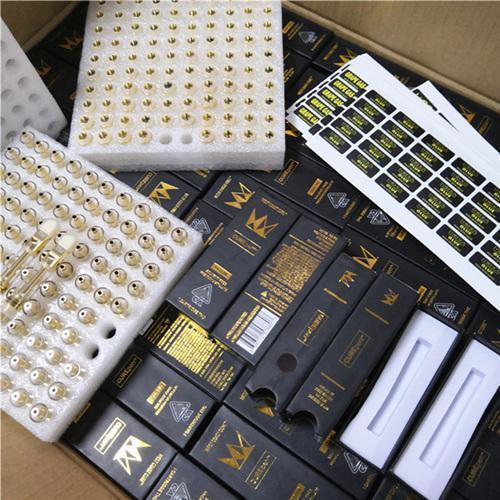 pacote e cartucho de ouro de 0,8 ml