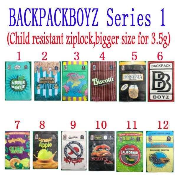best selling BACKPACKBOYZ 3 5g mylar bags 3.5g resealable smell proof bags baggies backpack boyz BISCOTTI GELATO 41 GUARANA BILLY KIMBER ZERBERT GELATTI