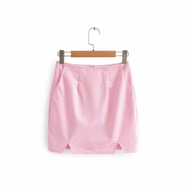 Falda de color rosa
