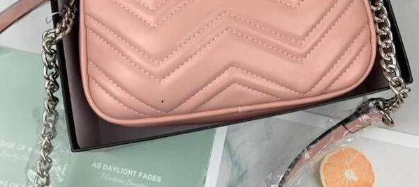 Розовый Серебряная цепочка