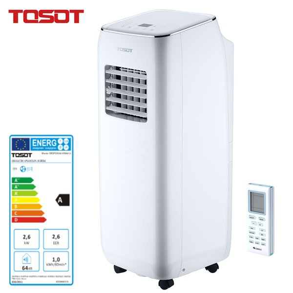 best selling TOSOT Portable Air Conditioner for Basement School Office Bedroom Living Room 3 in 1 Cooling Dehumidifier Fan Remote Control Timer, Silver