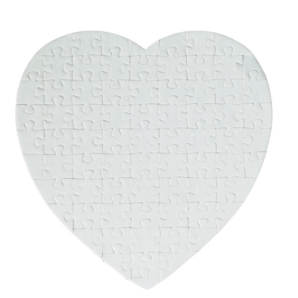 top popular Blank Heart Shaped Jigsaw Puzzle Sublimation 75 Pieces Puzzles Crafts DIY Puzzle Birthday Valentine's Day Party Favor Gift Sea Shipping YL91 2021