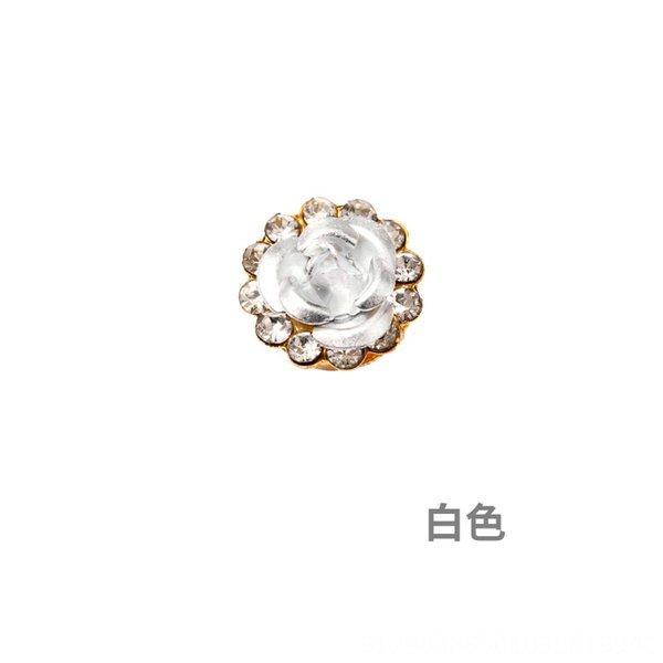 White-9,8 milímetros (100 Piecesxpack) Single Lay