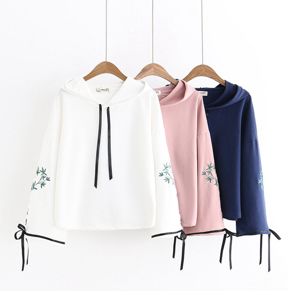 top popular Girl Hooded jackets Big kids children youth Fashion White long sleeve Autumn 2021