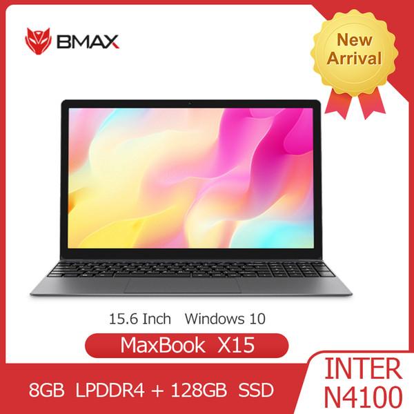 top popular BMAX X15 Laptop 15.6 Inch Intel Gemini Lake N4100 UHD Graphics 600 8GB LPDDR4 128GB SSD 1920*1080 Win10 Multi-language Notebook 2020