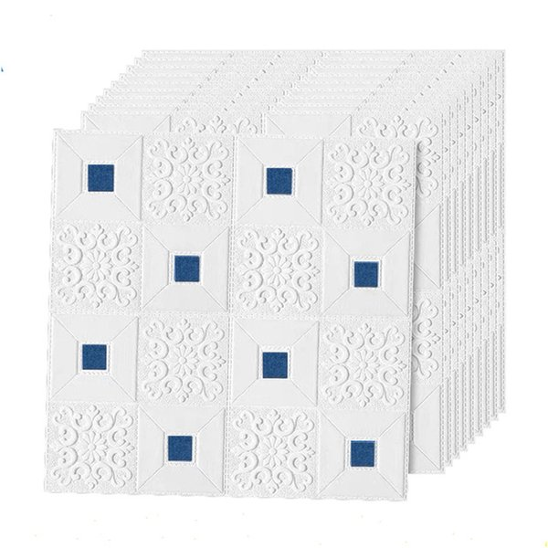 bianco blu-10pcs70x70x0.3cm
