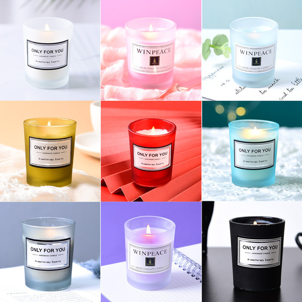 top popular Aromatherapy Candles Romantic Birthday Scented Candle Creative Souvenir Valentine's Day Candles 15 Flavors Can be Customized Label XD23994 2021