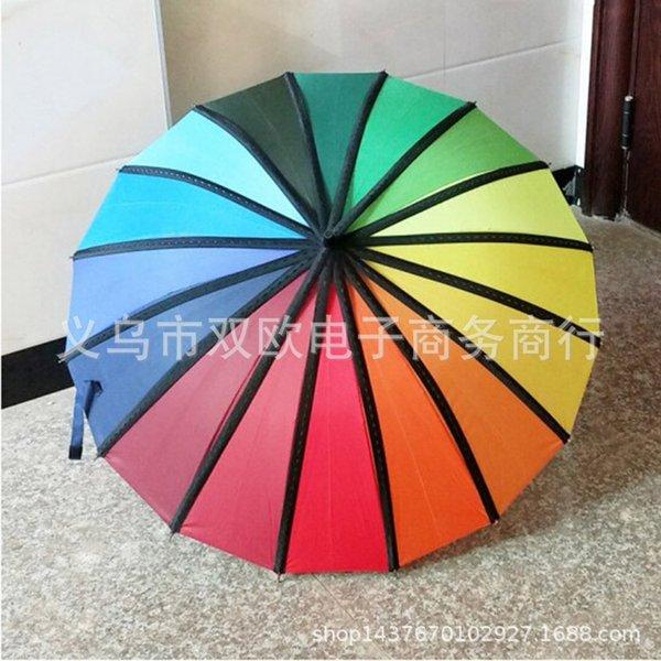 24-strand paraguas coloreado