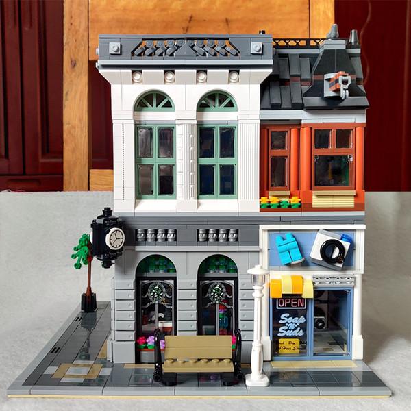 best selling In Stock 15001 Brick Bank Creator Series City Street Model 2413Pcs Building Blocks Bricks Toys 10251 Gift For Children