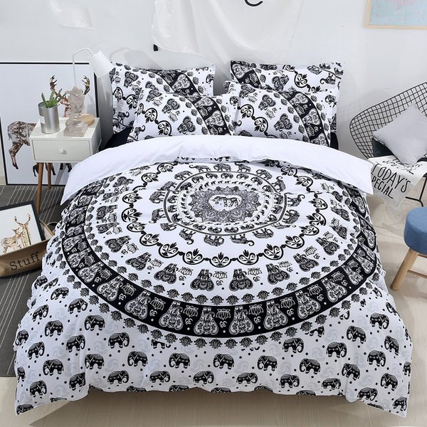 The new home textiles bedding digital printing bedding sets 3 pieces Duvet cover+Pillowcase Twin Queen King size free delivery