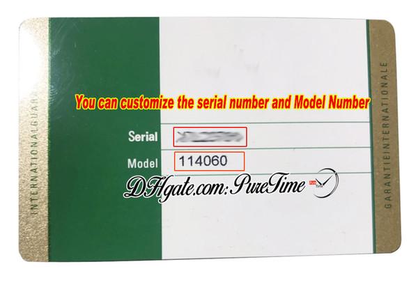 Scheda di garanzia personalizzata