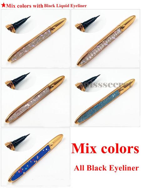 Mix couleur avec eye-liner noir