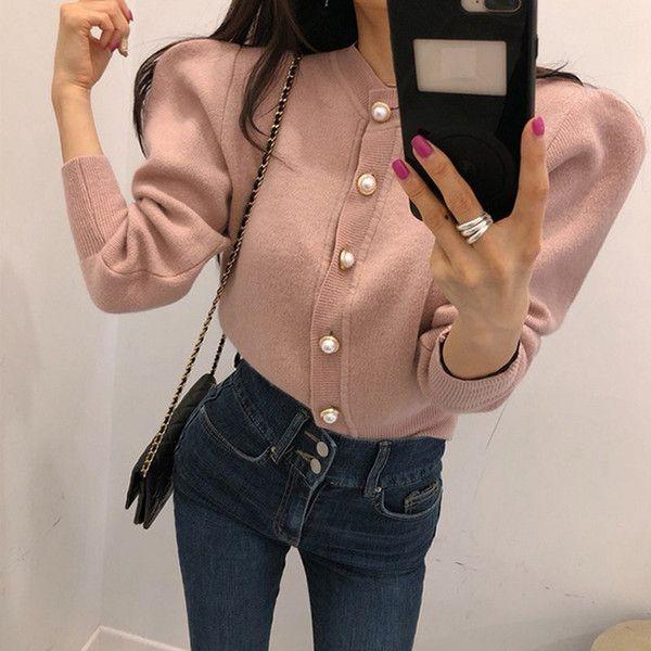 rosa Strickjacke Frauen