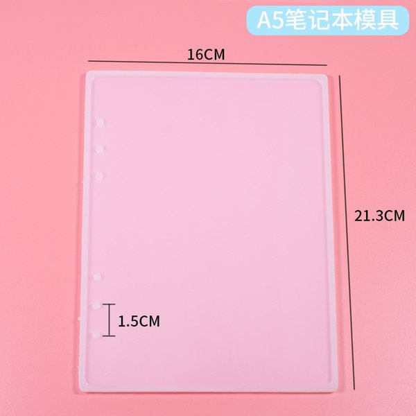 Silicone Mold: A5 Notebook (single Side)