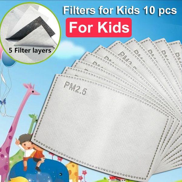 Çocuk 10pcs PM2.5 Filtreler
