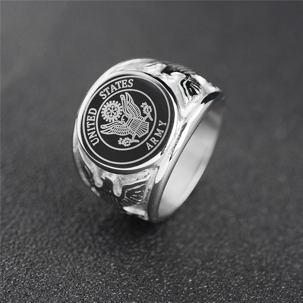best selling Stainless Steel Officers United States Marine Corps USMC ring US Navy USN Military ARMY AIR FORCE Anchor Firefighter Men's ring Jewelry