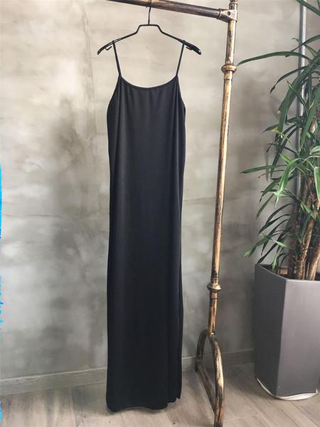 فستان أسود حبال