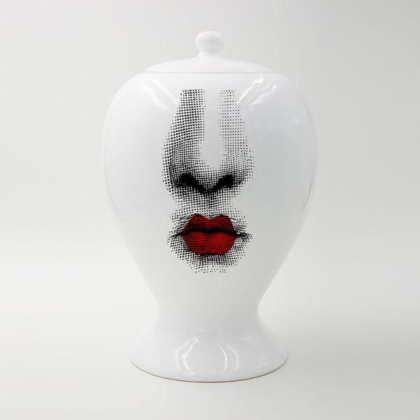 best selling 14x22CM European Decor Flower Vase Jars Ceramic Large Sealing Pot Home Decoration Accessories Christmas Craft