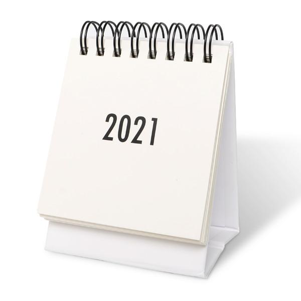 best selling Mini Desk Calendar 2021 - Standing Flip Calendar 2021 Desk Wall Calendar for Planning Organizing Daily Scheduler, Starts