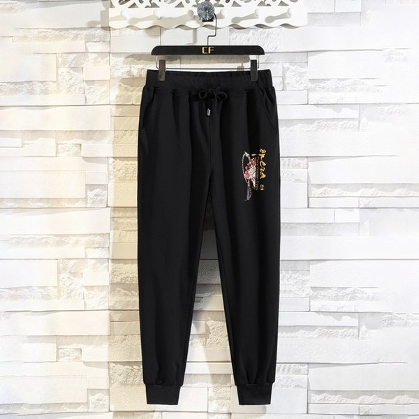 Pure Black Pants-XXXXL