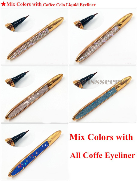 Mix colors with coffe eyeliner