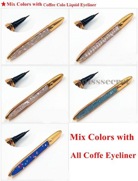 Mélanger les couleurs avec eye-liner coffe