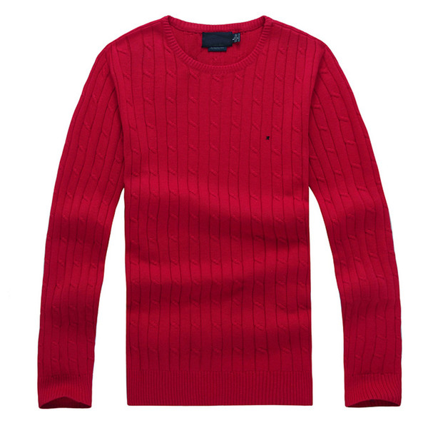 top popular mens sweater crew neck mile wile polo mens classic sweater knit cotton Leisure warmth sweaters jumper pullover 8colors 2020