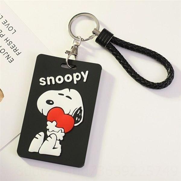 Snoopy Amor + trançado chaveiro Rope