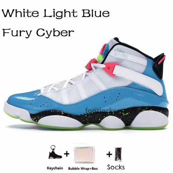 6s-White Light Blue Fúria do Cyber