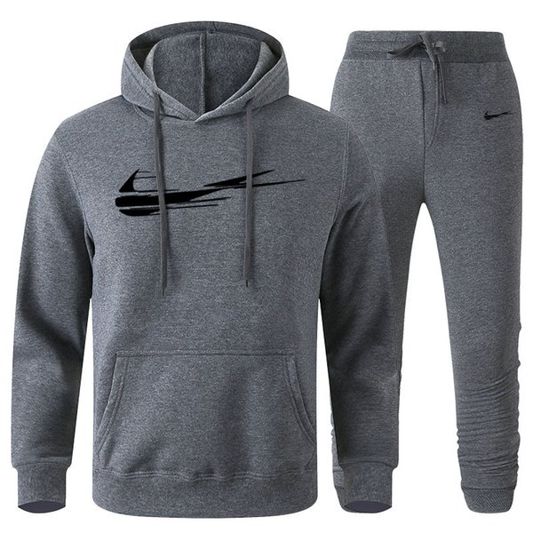 top popular Men Designer pullover Hoodies Pants Fleece Tracksuit Mens Sweat Suits Patchwork Black Solid Color 2020 Autumn Winter Mens Womens Sportsuit 2020