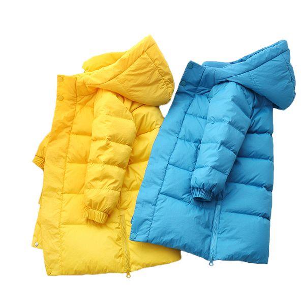 Girls Winter down Coat 2020 New kids Long Hooded Jacket children Jacket For Girls Boys baby winter coat Children parkas 2-8 year