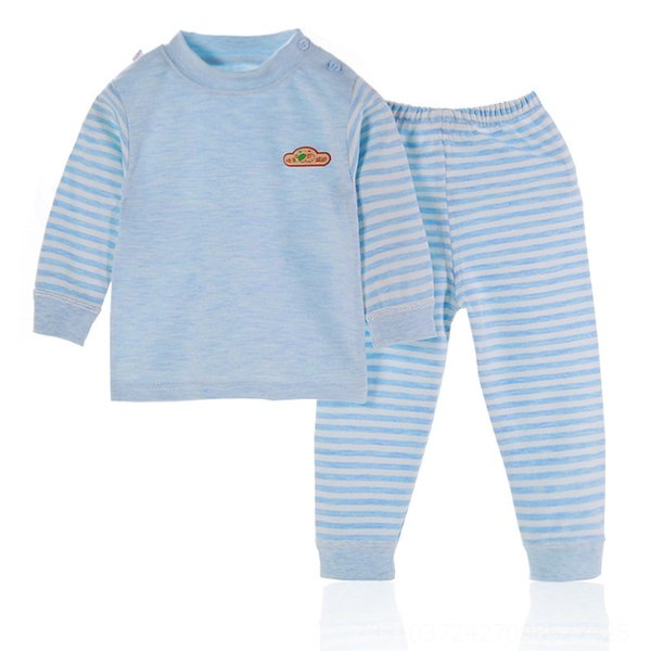 Colorato Cotone-Cielo blu Petto Logo