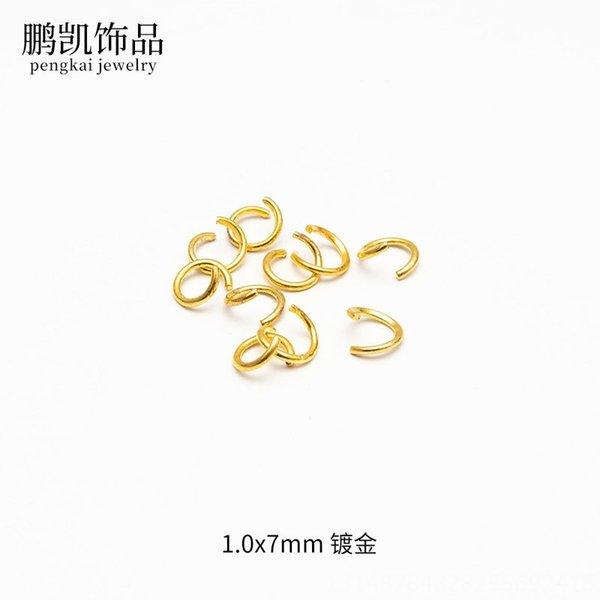 1,0 x 7 mm de oro chapado